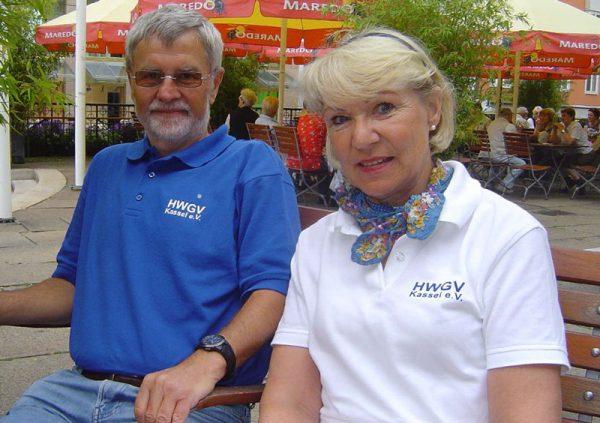 Vereinskleidung blaues und weißes Poloshirt (Foto © HWGV Kassel, 2009)